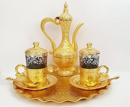 Set Café  o té  Dorado