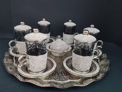 Fino set tazas café piedra Swarovski