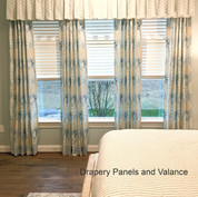 Stationary panels with valance