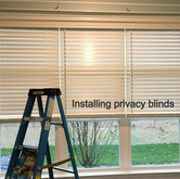 """2.5"""" wood blinds with cordless lift"""