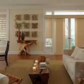 Same material in 3 different window treatments