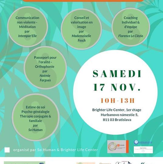 affiche conférence développement personnel et bien-être