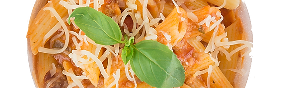 Slaatje met pasta spirelli