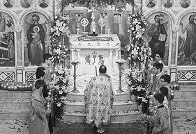 Rev. Fr. Phillip Zymaris and Altar boys.