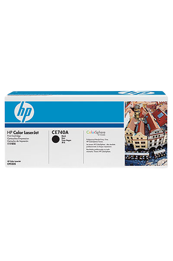 HP Color LaserJet CE740A Black טונר מקורי
