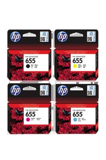 HP 655 - סט 4 ראשי דיו מקוריים