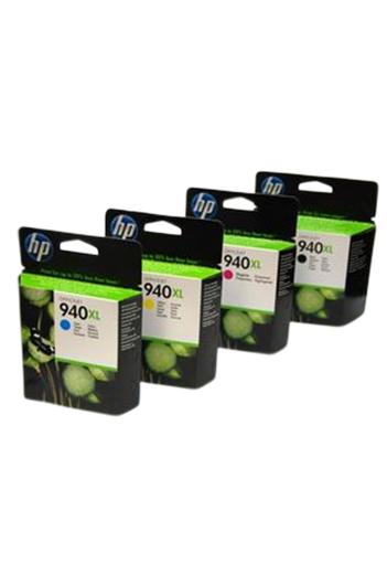 HP 940XL - סט 4 ראשי דיו מקוריים