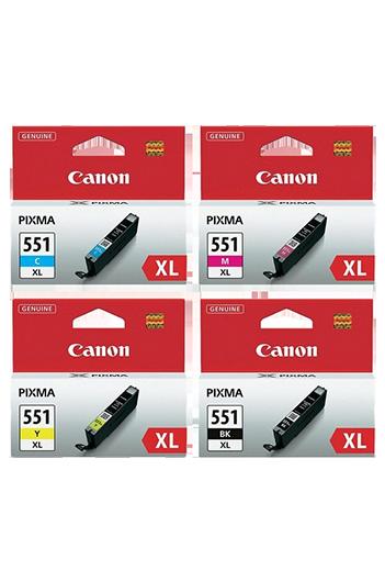 Canon CLI-551XL - סט 4 ראשי דיו