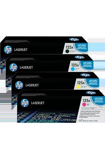 HP CB540A +CB541A + CB542A + CB543A 125A טונר מקורי - סט טונרים