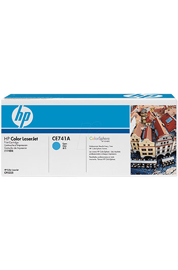 HP Color LaserJet CE741A Cyan טונר מקורי
