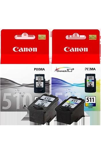 Canon PG510+CL511 - סט 2 ראשי דיו