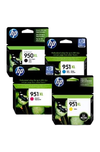 HP 950XL+ 951XL - סט 4 ראשי דיו מקוריים