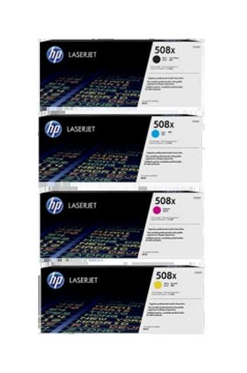 HP 508X CF360X,CF361X,CF362X,CF363X טונר מקורי - סט 4 טונרים