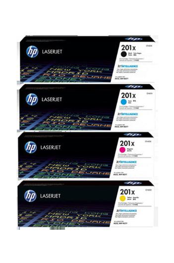 HP M252/277 201X CF400X / 401X / 402X / 403X טונר מקורי - סט 4 טונרים