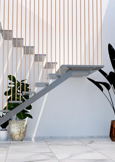 vista escaleras