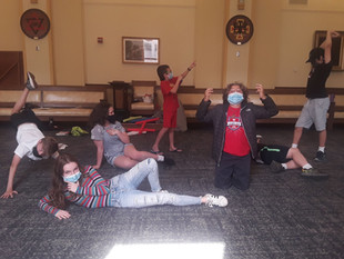In class (Elementary/Middle School Division) - Camp Shakespeare 2021