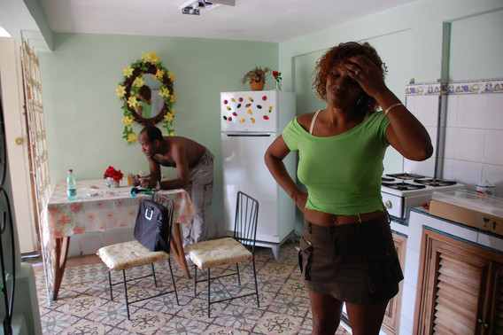 Ivon in her kitchen, Havana, 2008