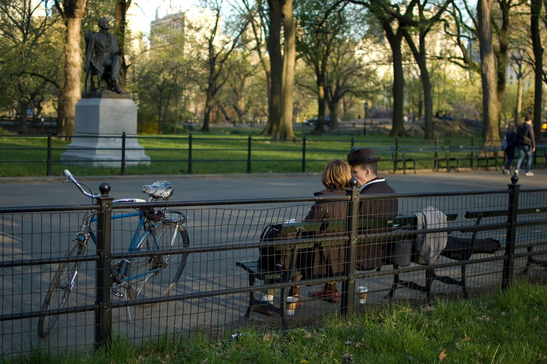Bench sitters, Central Park, 2013