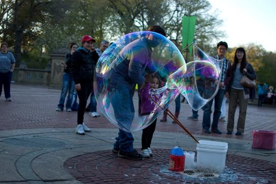 Bubble maker, Central Park, 2013