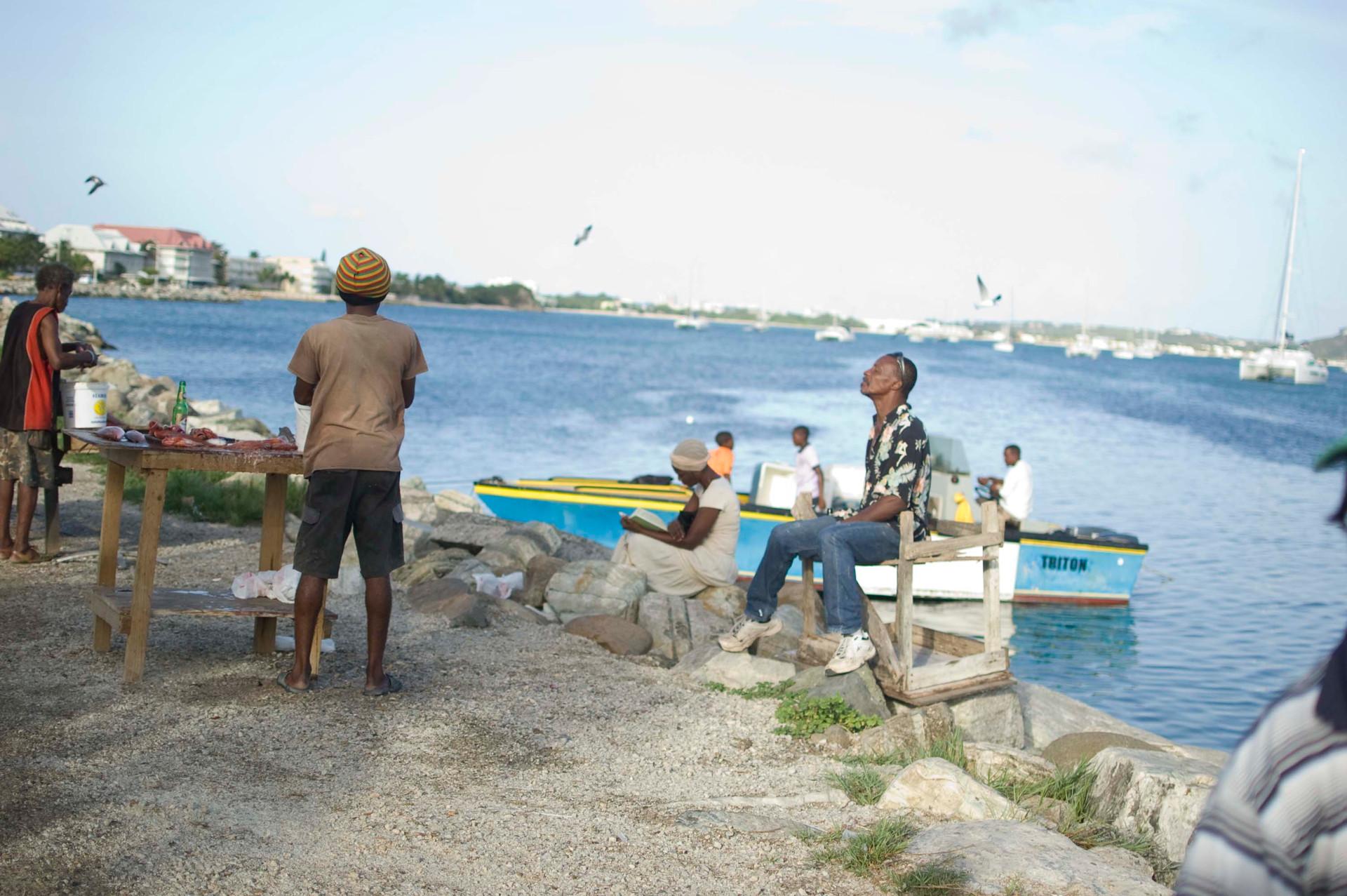 Fishing crew, Marigot Market, 2013