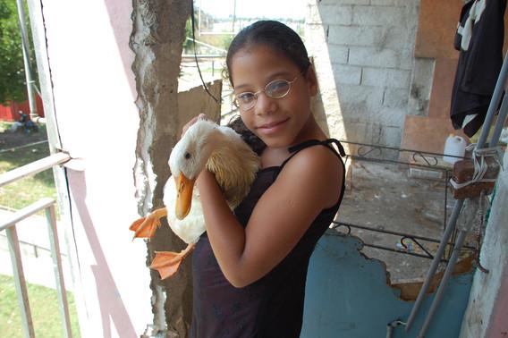 A girl and her pet, Havana, 2008