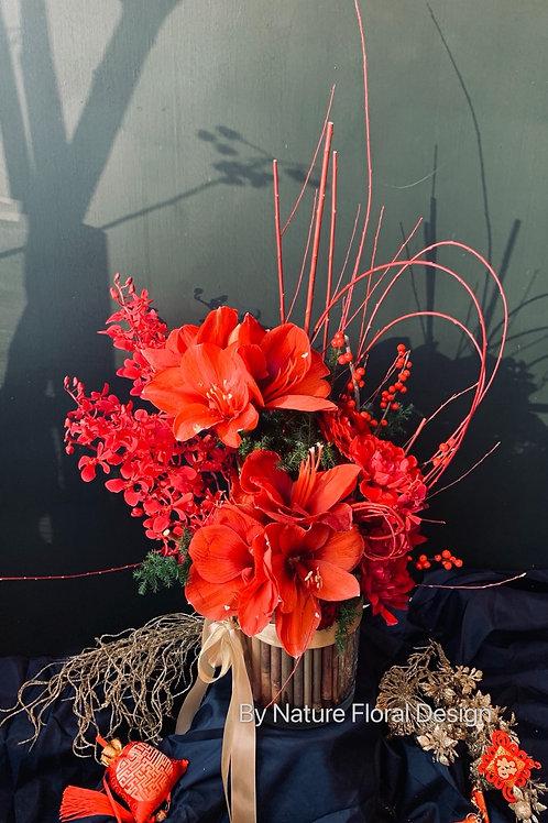 CNY flower arrangement workshop
