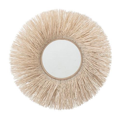 Cane Round Rattan Mirror