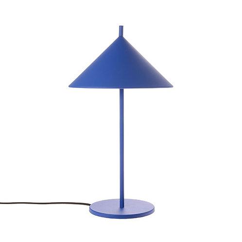 Triangle Metal Table Lamp in Matt Cobalt Blue