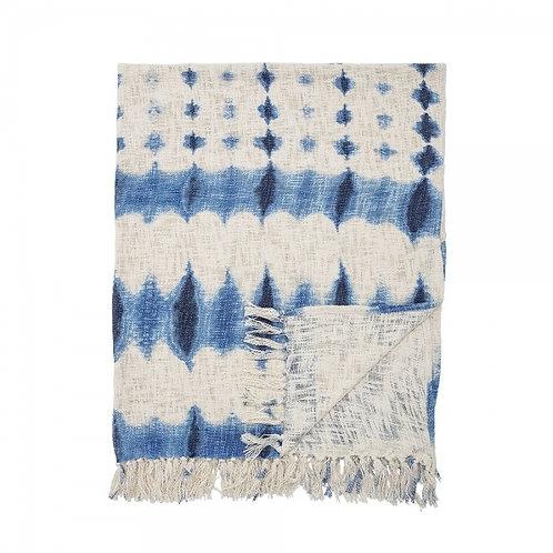 Navy Blue Cotton Tie Dye Throw