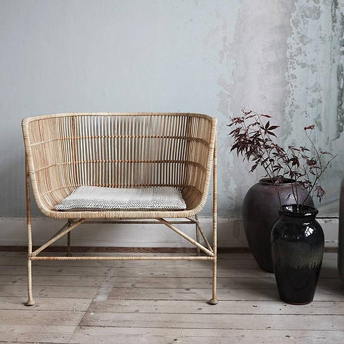 Bamboo Rattan Chair - Natural or Black