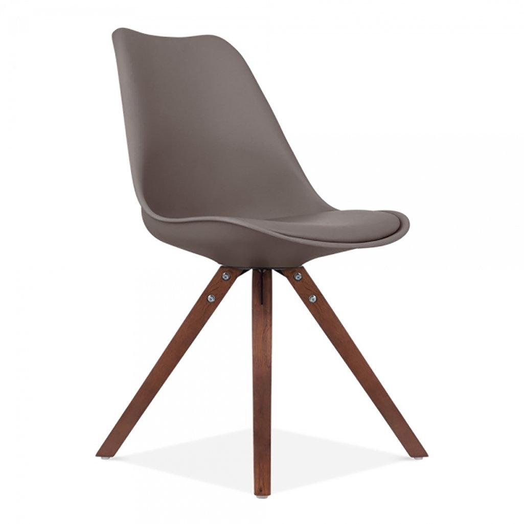 Scandi Style Dining Chair Walnut Pyramid Leg Ciellondon