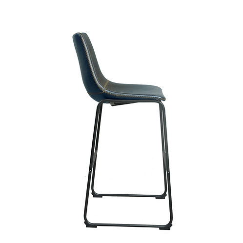 Set 2 - Laila Bar Island Stool - Grey - 58cm Seat H