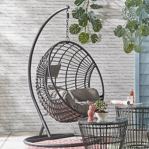 Black Hanging Basket Swing Chair