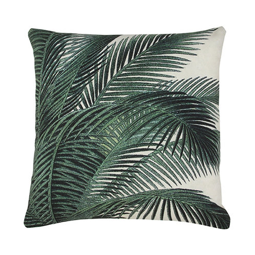 Palm Print Cushion, Botanical Print Cushion
