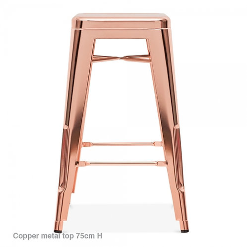 Copper or Brass Metal Bar Stool