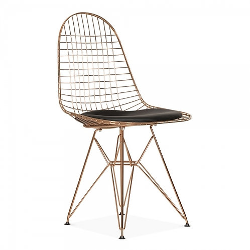 Copper Scandi Wire Mesh Chair