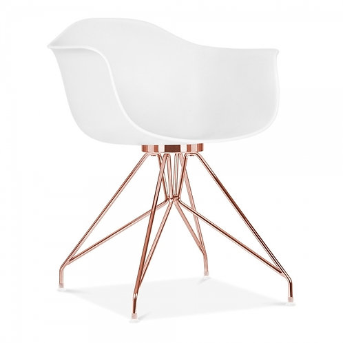 Milano Dining Arm Chair with Copper leg