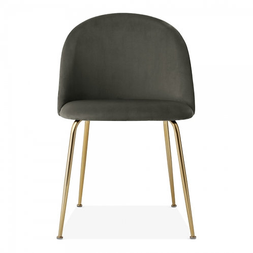 Grey Velvet Dining Side Chair - Colours+
