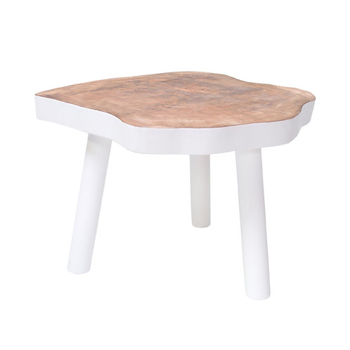 Natural tree table white large