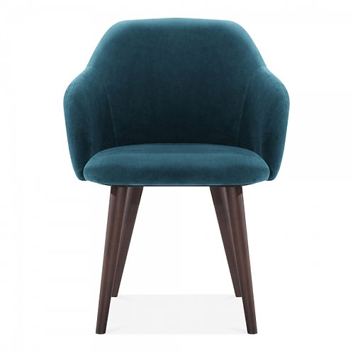 Miami Velvet Dining Arm Chair -Upholstered