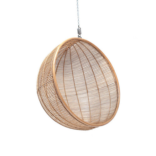Stunningly Stylish 60u0027s Look Round Egg Shape, Hanging Basket Chair, In  Choice Of Natural Or Black Rattan, The Perfect Stylish Modern Essential  Chillout ...