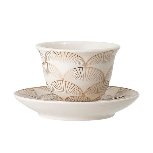 Gold Fan Express Coffee Cup and Saucer Set