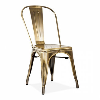 metal restaurant chairs uk. brass \u0026 copper industrial style metal dining side chair restaurant chairs uk