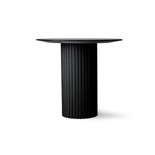 Black Round Pillar Side Table.