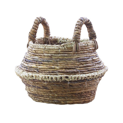 Farmhouse Natural Rustic Round Basket
