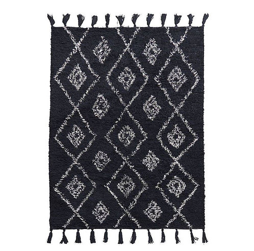 Cotton Tufted Diamond Berber Rug