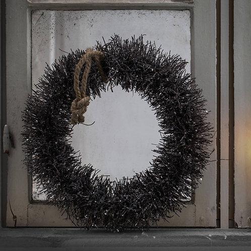 Natural Metallic Rattan Door Wreath