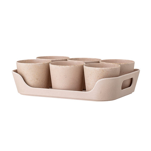 Bamboo Herb Planters Set 6