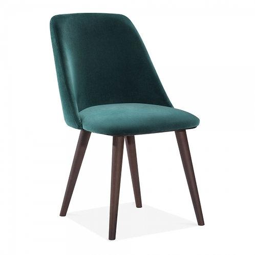 Green Melrose Velvet Dining Side Chair -Upholstered