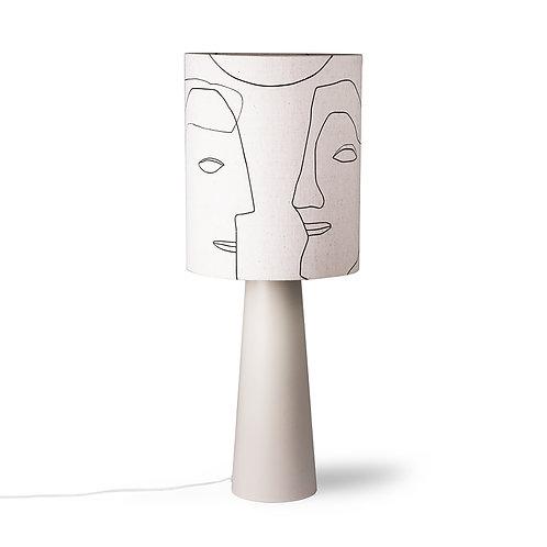 Print Faces Shade - Natural White